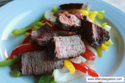 steak and veggie