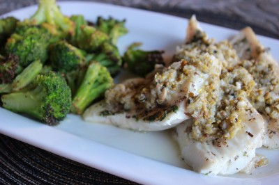 Paleo Sauteed Halibut with Caper relish